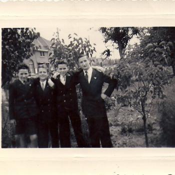 1951, Chorale à Ostricourt,On reconnaît T. Głowacz, ??, Mika, ??
