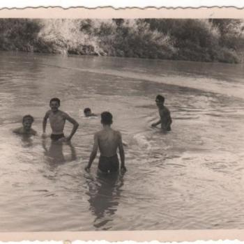 1959 - Aranjuez - Bain dans le Tage