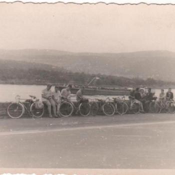 1960 - Au bord du Rhin, sur la route du retour de Munich