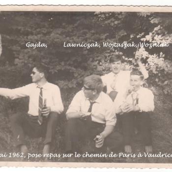 1962 - La veille du bac au retour de Paris avec la chorale