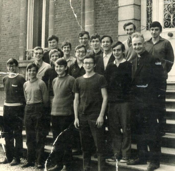 Classe de 3°B, 1969-70, Abbé Robay, (Photo X)