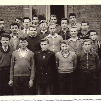 Classe de 3°B, Abbé Robay, 1954. (Photo Glowacz)
