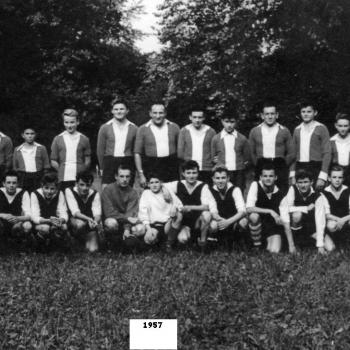 Match d'entraînement de l'équipe Cadet (1957). Photo J. Lesniak