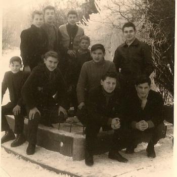 Devant le Bac à poissons en 1959  (Photo Czeslaw Horala)