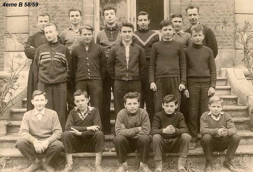 Classe de 4°B (1958-59) abbé Robay, Photo C.Horala