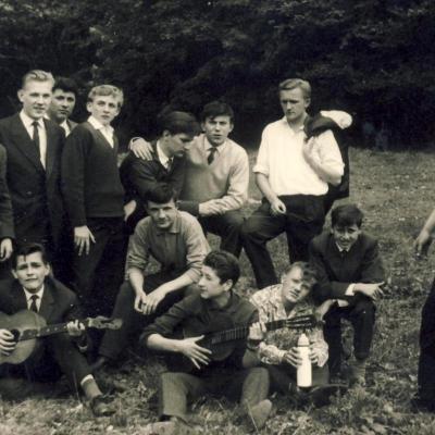 Fin d'année scolaire 1962 pour la classe de 3°B.