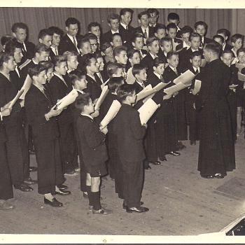 Chorale à Waziers en 1951