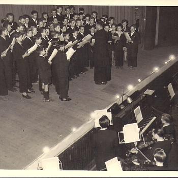 Chorale et orchestre à Waziers en 1951