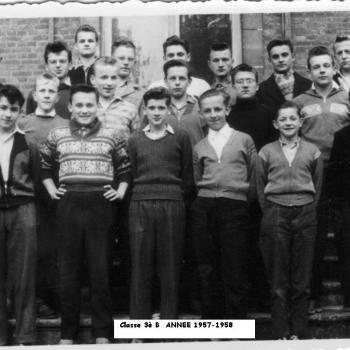 Classe 3° B (1957-58) Abbé Robay.  Photothèque Jean Lesniak