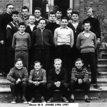 4° B (1956-1957) Abbé Meurin (dit Cul de Poule) Photo Jean Lesniak