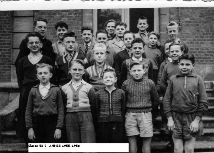 Classe 5° B (1955-56) abbé Legrand Phot J. Lesniak