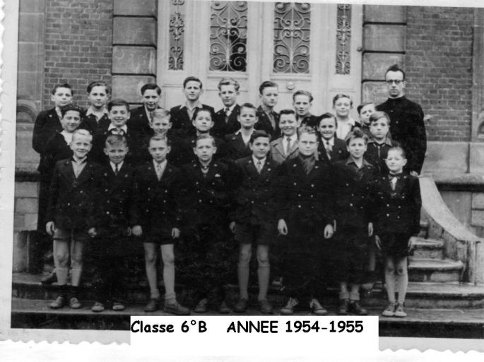 Classe 6° B (1954-55) Abbé Bailleul Photo J. Lesniak