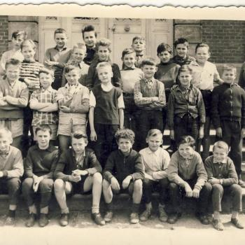 Classe 7°B- Melle Daubercies- 1959-60 (Photo Claude Lukasiewicz)