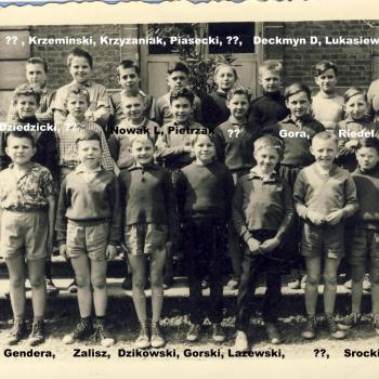 classe7°B Germaine Daubercies 1959-60 photo Claude Lukasiewicz