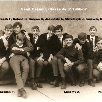 Internat Saint Casimir Classe de troisième 1966-67