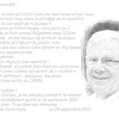 In memoriam Joseph Lawniczak.
