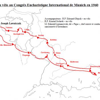 Itinéraire du voyage en vélo vers Munich (Josef Lawniczak)