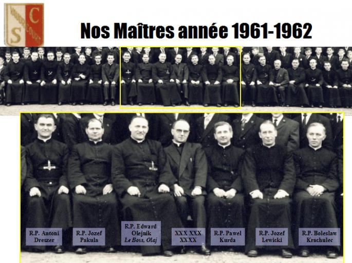"""""""Equipe du """"Boss Supérieur """" en 1961-62 (Photo R. Zalisz)"""