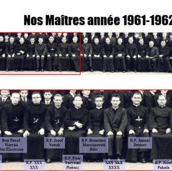 Nos maîtres année 1961-62 (Photo R. Zalisz)