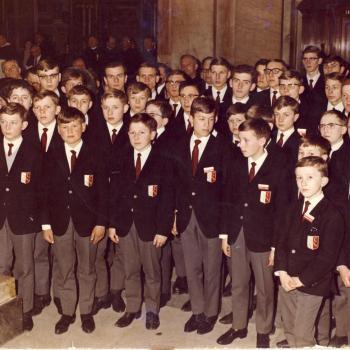 La chorale chante lors de la Messe Papale Basilique St Pierre