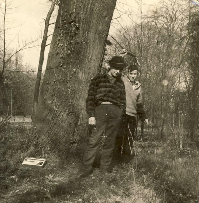 1964 dans le parc de l'Internat