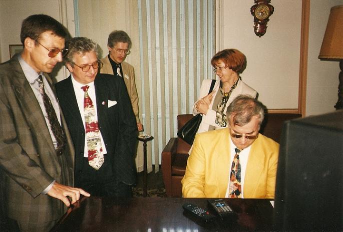 1° mai 1997, Dans le Salon du Château (Photo R. Kowalski)