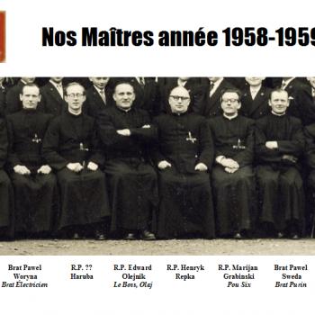 Nos Maîtres Année 1958-1959 (photo Claude Lukasiewicz)