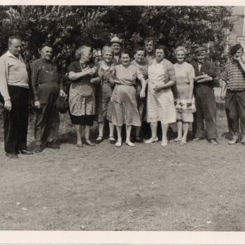O. Zajac et la brigade des cuisines Stella Plage début des années 60