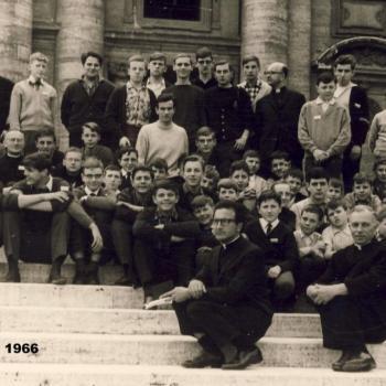 Rome-Mai 1966, devant la Basilique St Jean de Latr