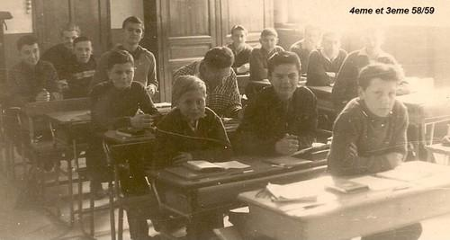 Studium 4°B  & 3°B en 1958-59 (Photo C. Horala)