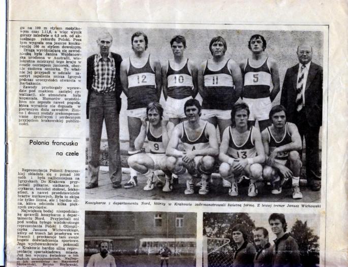 Les Olympiades de la Polonité sont organisées à Cracovie en 1974.