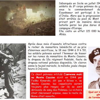 Quel est le nom de ce général polonais qui dirigea les troupes polonaises à Monte Cassino ?