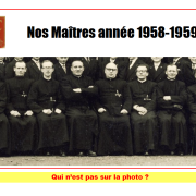 Qui n'est pas sur cette photo de 1959. Cliquer pour agrandir la photo.