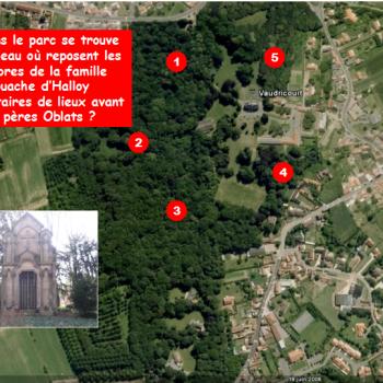 Oû  se trouve le tombeau où reposent les membres de la famille Fouache d'Halloy