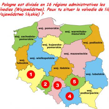 Peux tu situer la voïvodie de Śląsk (Wojewódstwo Śląskie) sur cette carte de la Pologne?