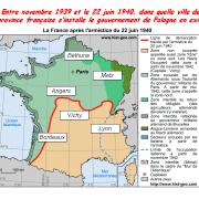 Entre novembre 1939 et le 22 juin 1940, dans quelle ville de province française s'installe la présidence et le gouvernement de Pologne en exil?