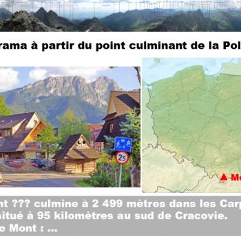 Quel est le point culminant de la Pologne ?  Cliquer pour agrandir la photo.