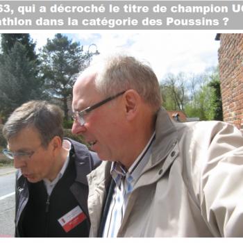 En 1963, qui a décroché le titre de champion UGSEL de triathlon dans la catégorie Poussins ? Cliquer pour agrandir la photo.