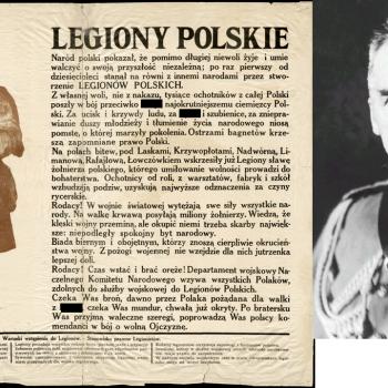 """En août 1914, l'état polonais n'existe pas. Pilsudski crée les """"Legiony Polskie"""". Pour qui vont combattre ces légions ?"""