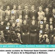 Derrière quel numéro se cache Casimir Szaleniec ? Cliquer pour agrandir la photo.