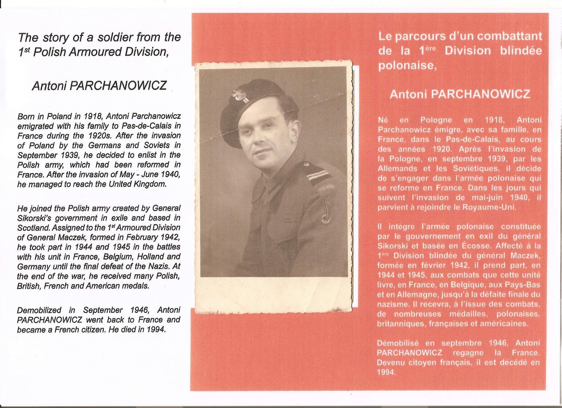 Guerre parcours antony parchanowicz