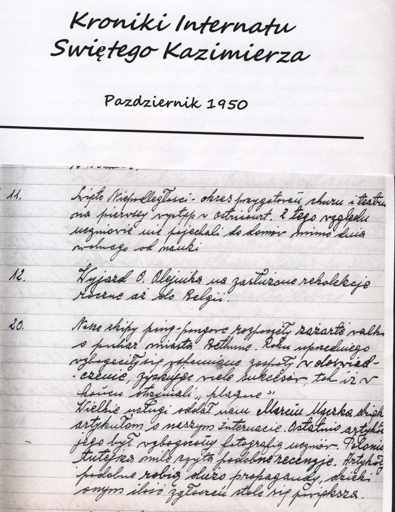 Pazdiernik 1950, l'écriture est un peu plus difficile à déchiffrer.