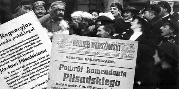 Powrot pilsudskiego 11 11 1918